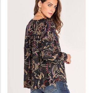 4/$25 Miss me XL floral paisley top boho women's
